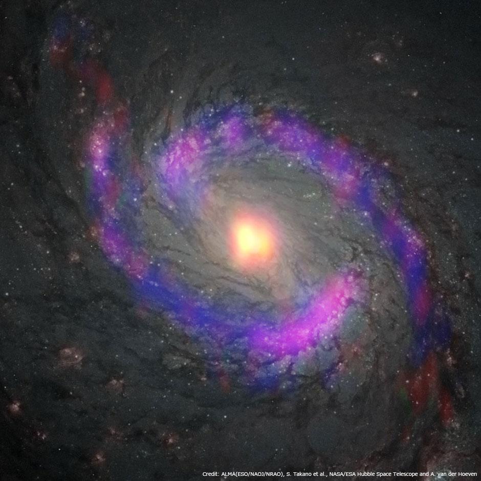 渦巻銀河M77の中心部 | 国立天文台(NAOJ)
