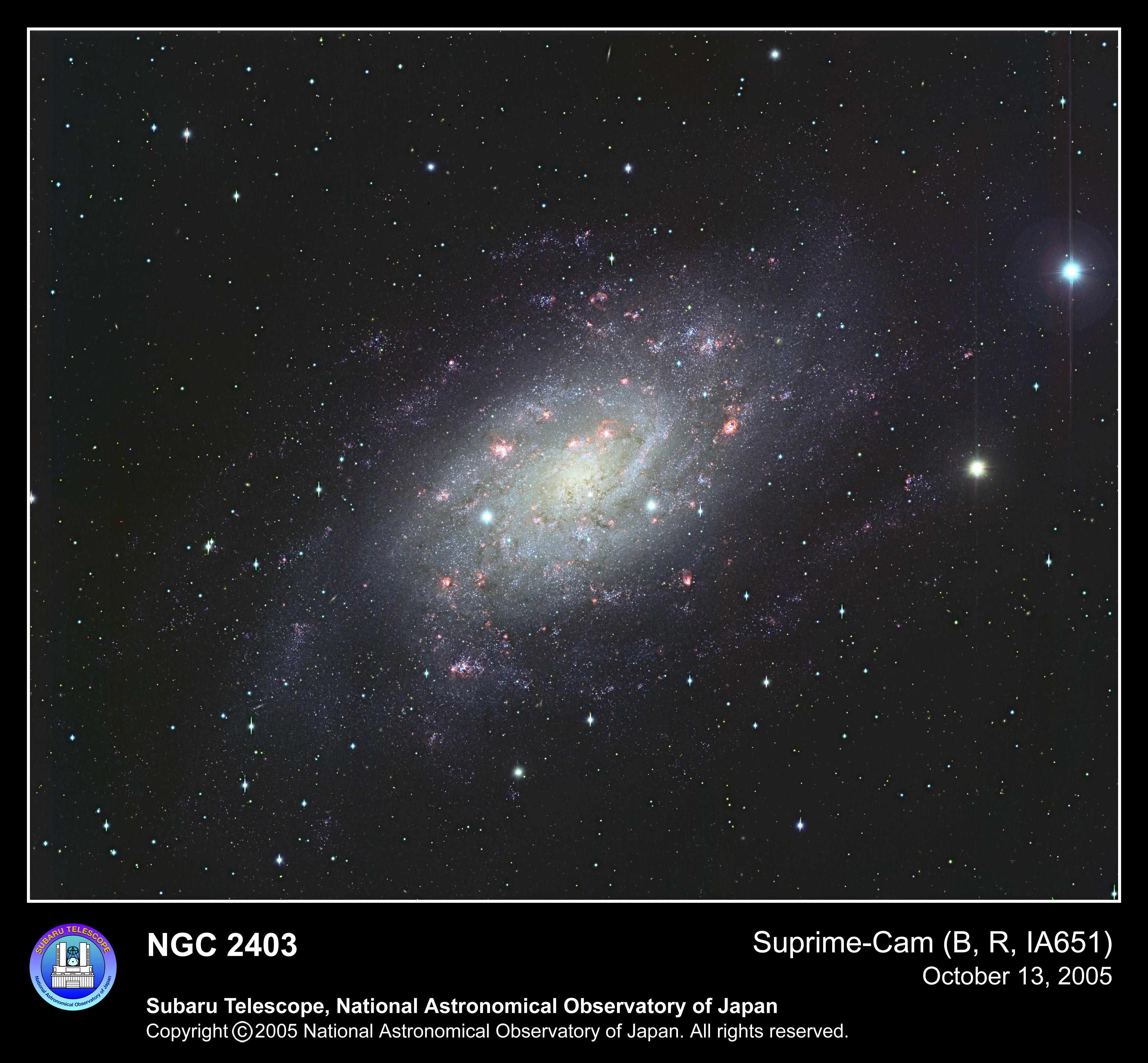 渦巻銀河 NGC 2403 | 国立天文台(NAOJ)