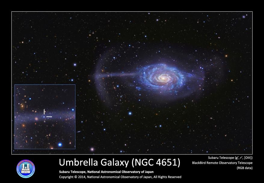 アンブレラ銀河 NGC 4651