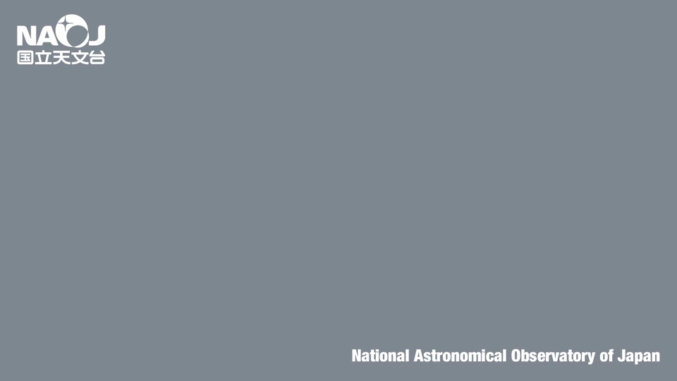 国立天文台ロゴ(背景色グレー)