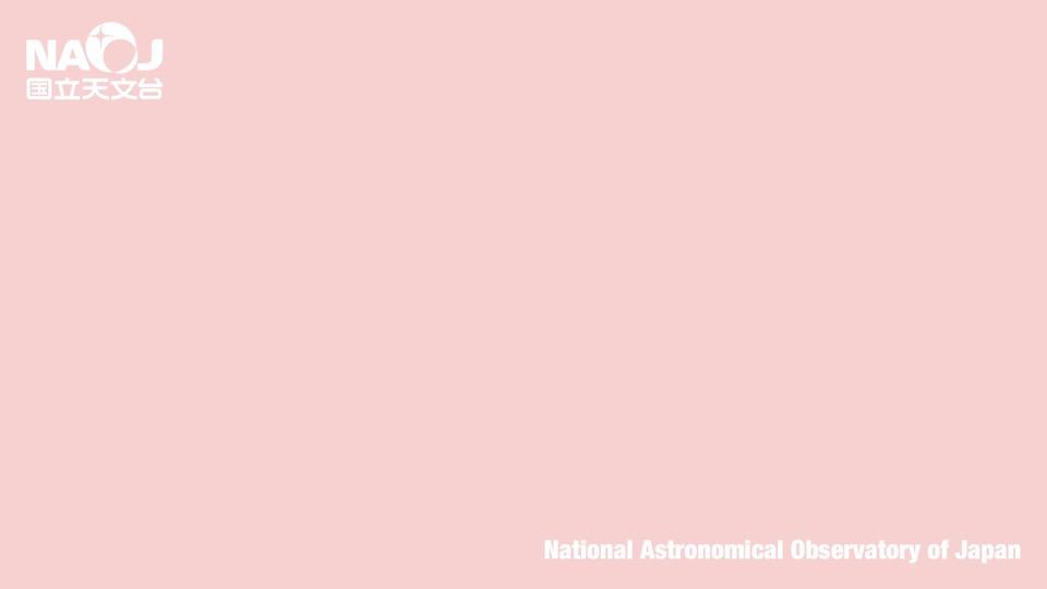 国立天文台ロゴ(背景色ピンク)