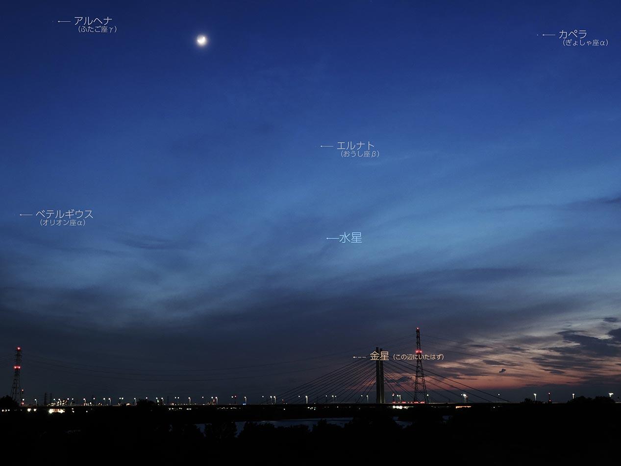 2021年5月15日、日の入り後の西の空