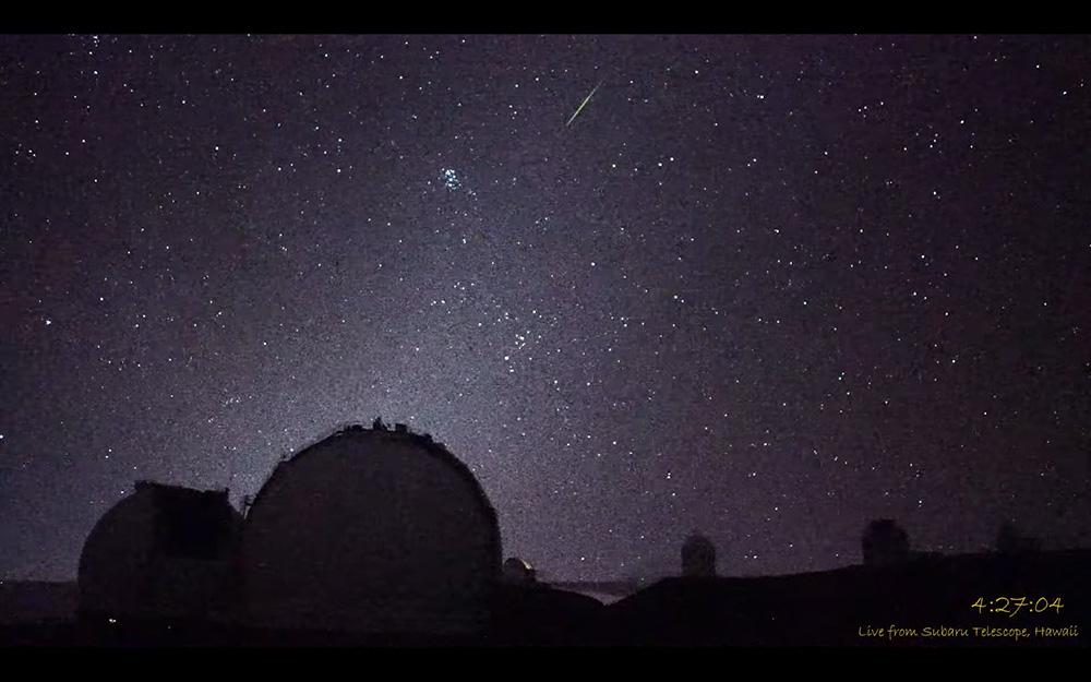 「星空カメラ」によるマウナケアの星空