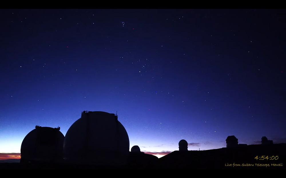 マウナケアの美しい夜明け。