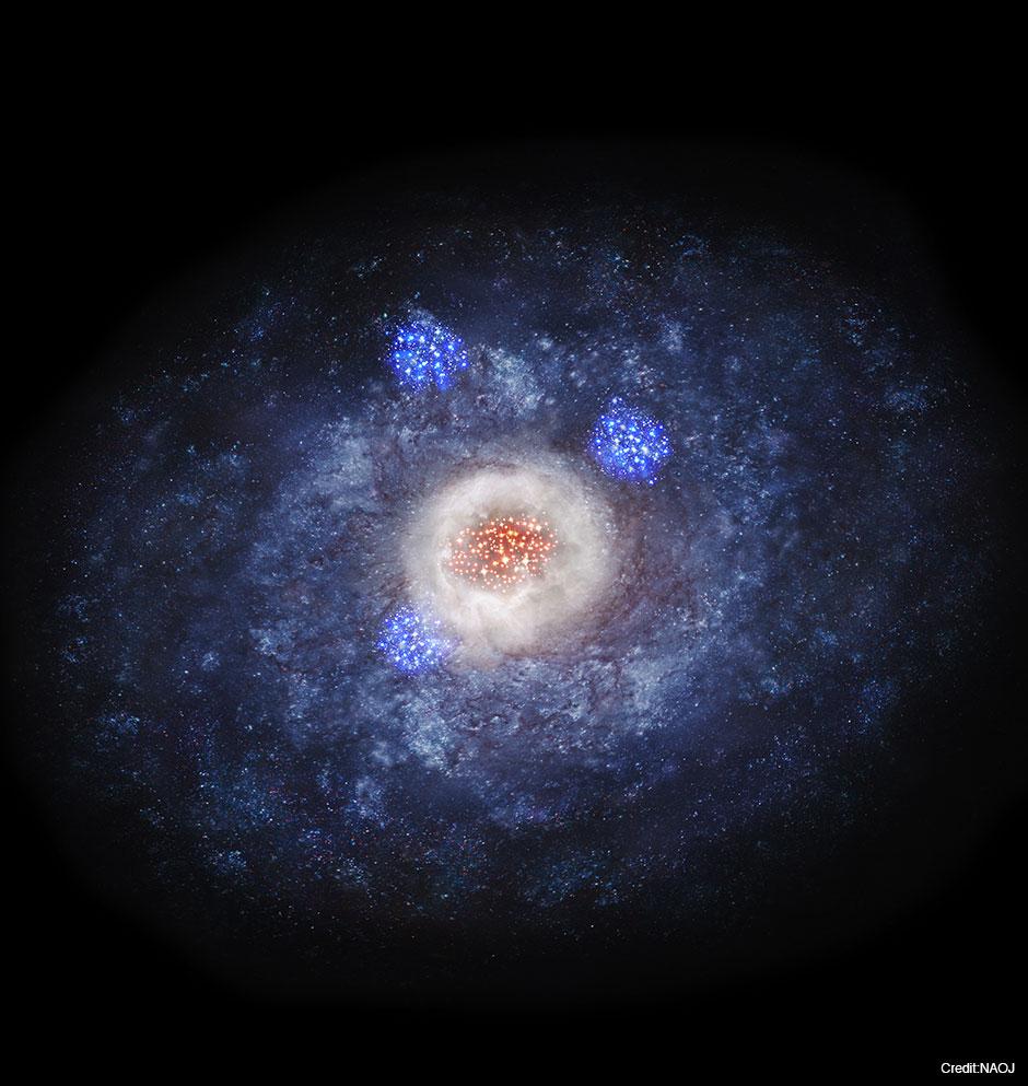 銀河の形を運命づけた110億年前...