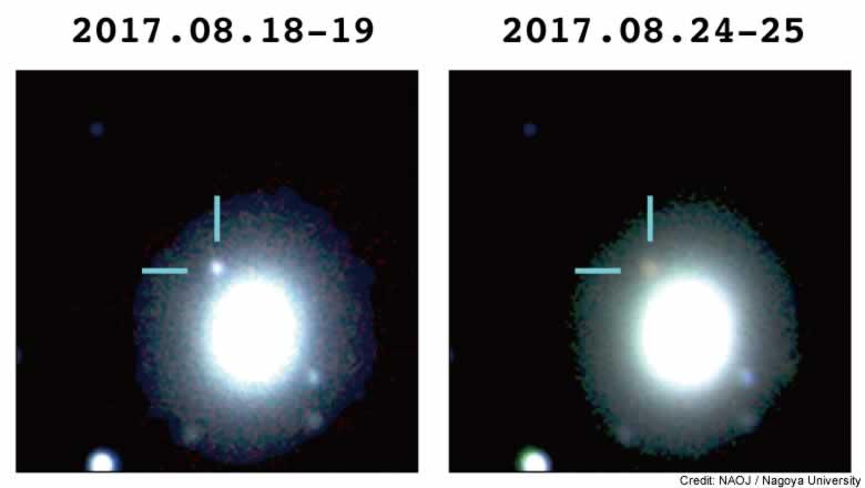 重力波天体が放つ光を初観測:日...