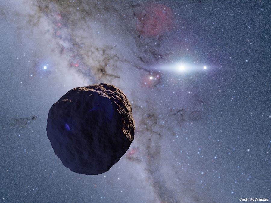 図:今回発見された小天体の想像図。