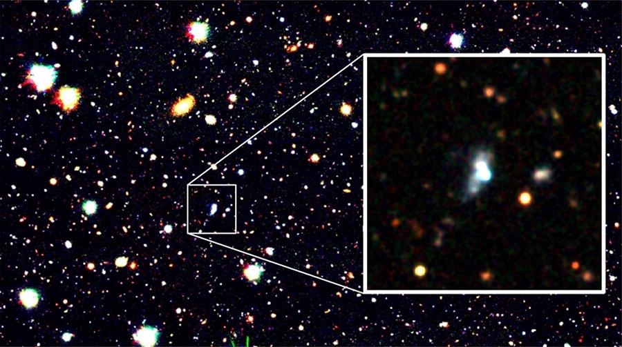 すばる望遠鏡で撮影されたHSC J1631+4426銀河