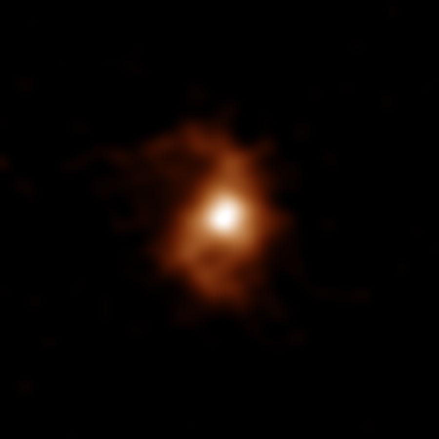 アルマ望遠鏡が観測した124億年前の銀河「BRI 1335-0417」