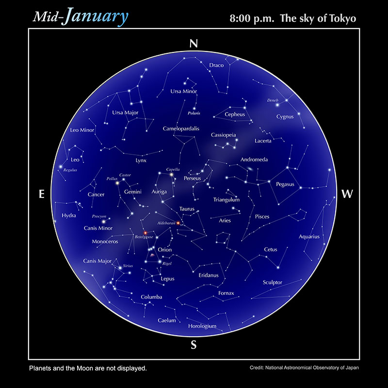 Star Chart  Naoj National Astronomical Observatory Of Japan  English