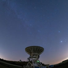 VERA Iriki Station 20m Radio Telescope and the Winter Milky Way