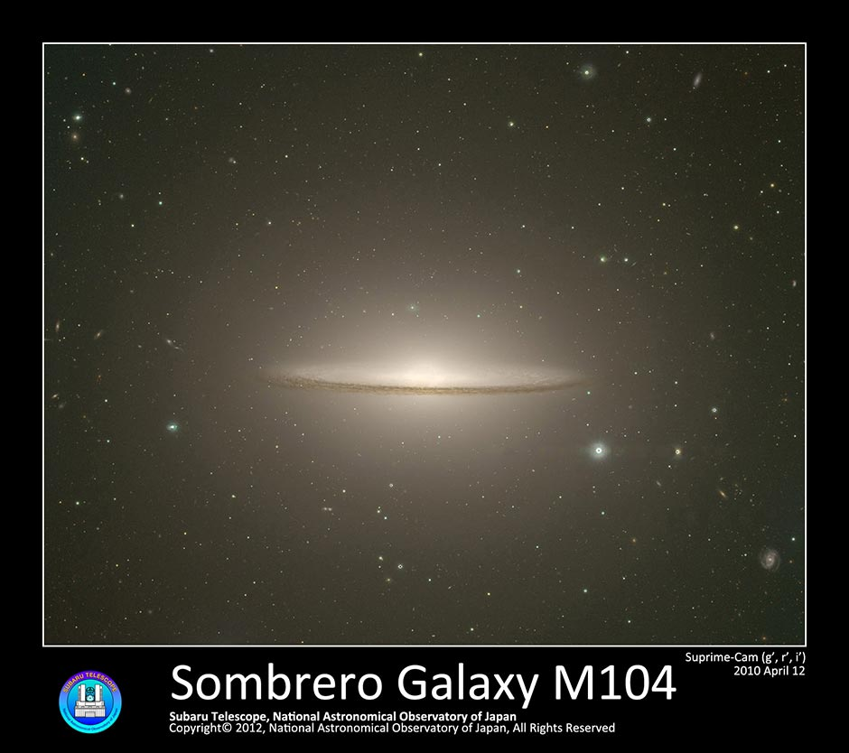 Sombrero Galaxy M104 Naoj National Astronomical Observatory Of