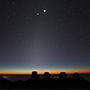 Close Planetary Encounter Seen above Mauna Kea