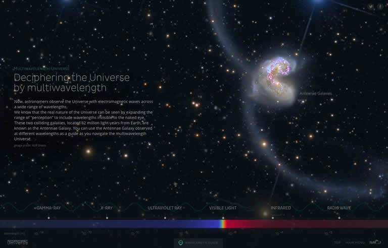 "Special Website ""Multiwavelength Universe"" English version"